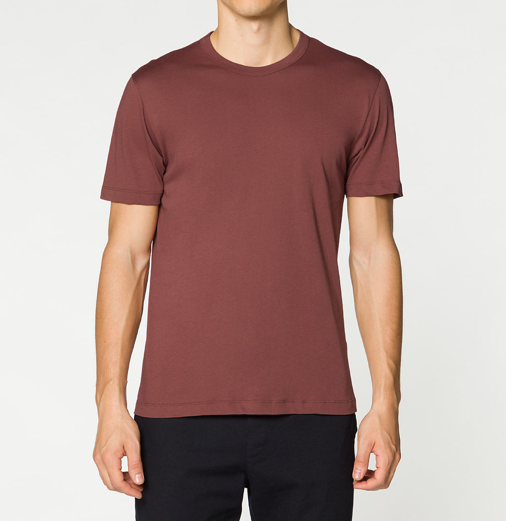 Crewneck Regular Fit Organic Cotton T-shirt Brick