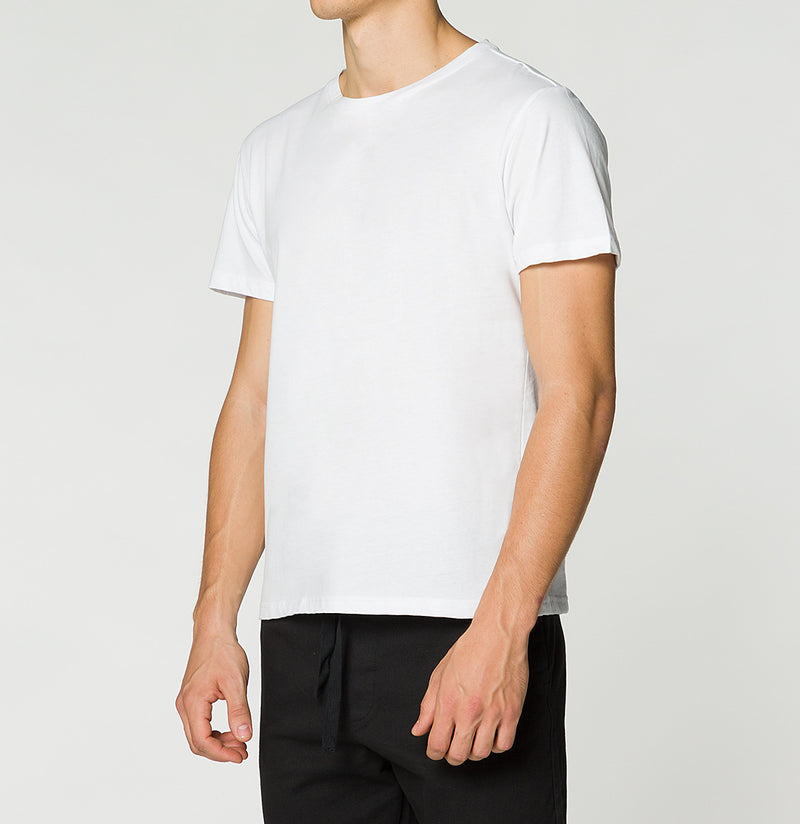 Crewneck Regular Fit Organic Cotton T-shirt White