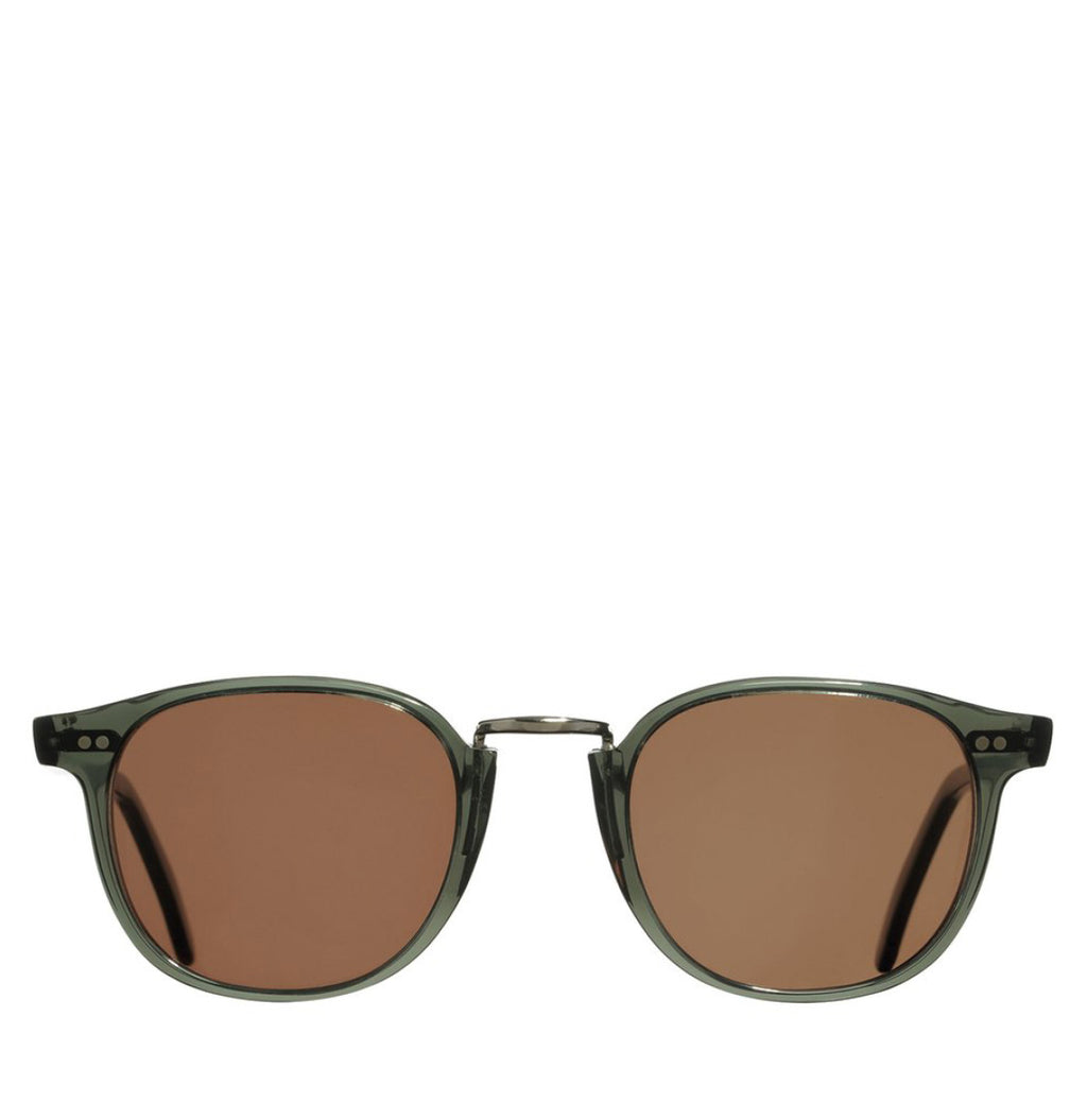Cutler and Gross Round-Frame Aviator Blue Acetate Sunglasses