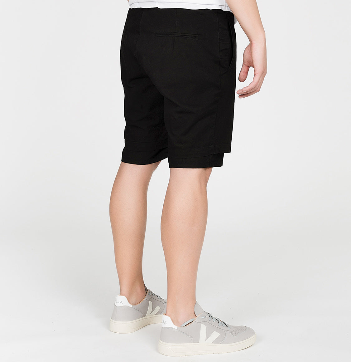 Double Layer Cotton Shorts Black | The Project Garments - C
