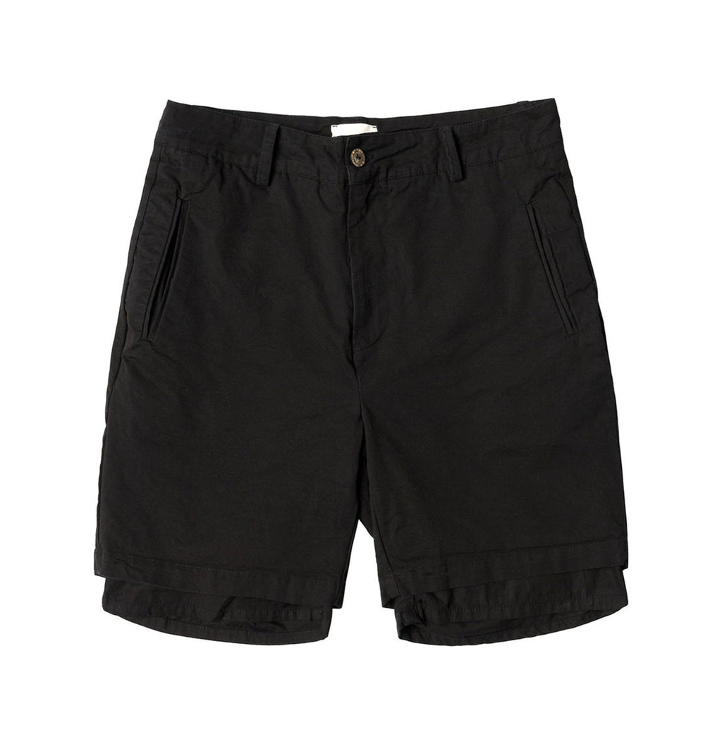Double Layer Cotton Shorts Black | The Project Garments - Product