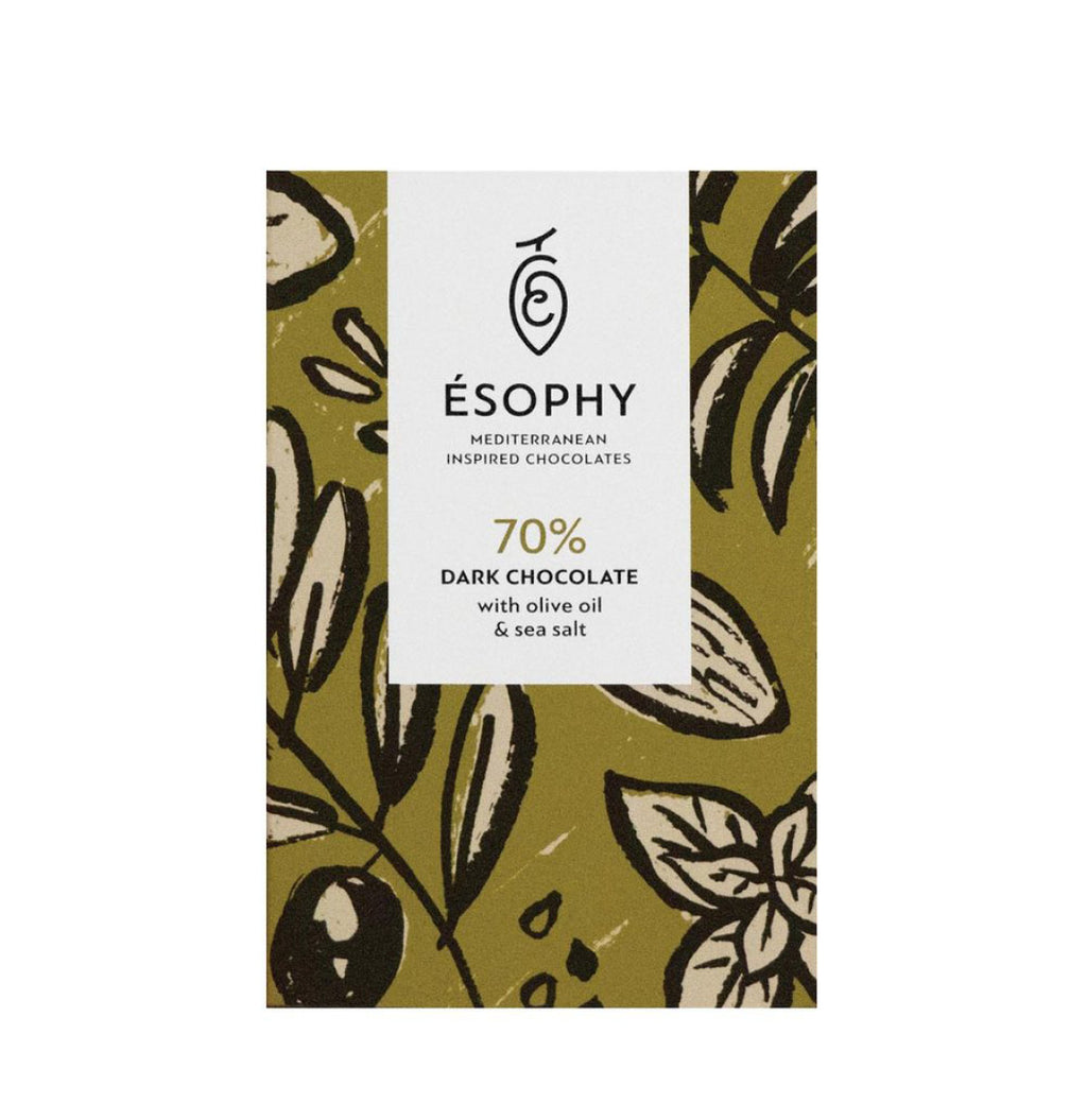 Esophy Olive Oil and Sea Salt Dark Chocolate - A