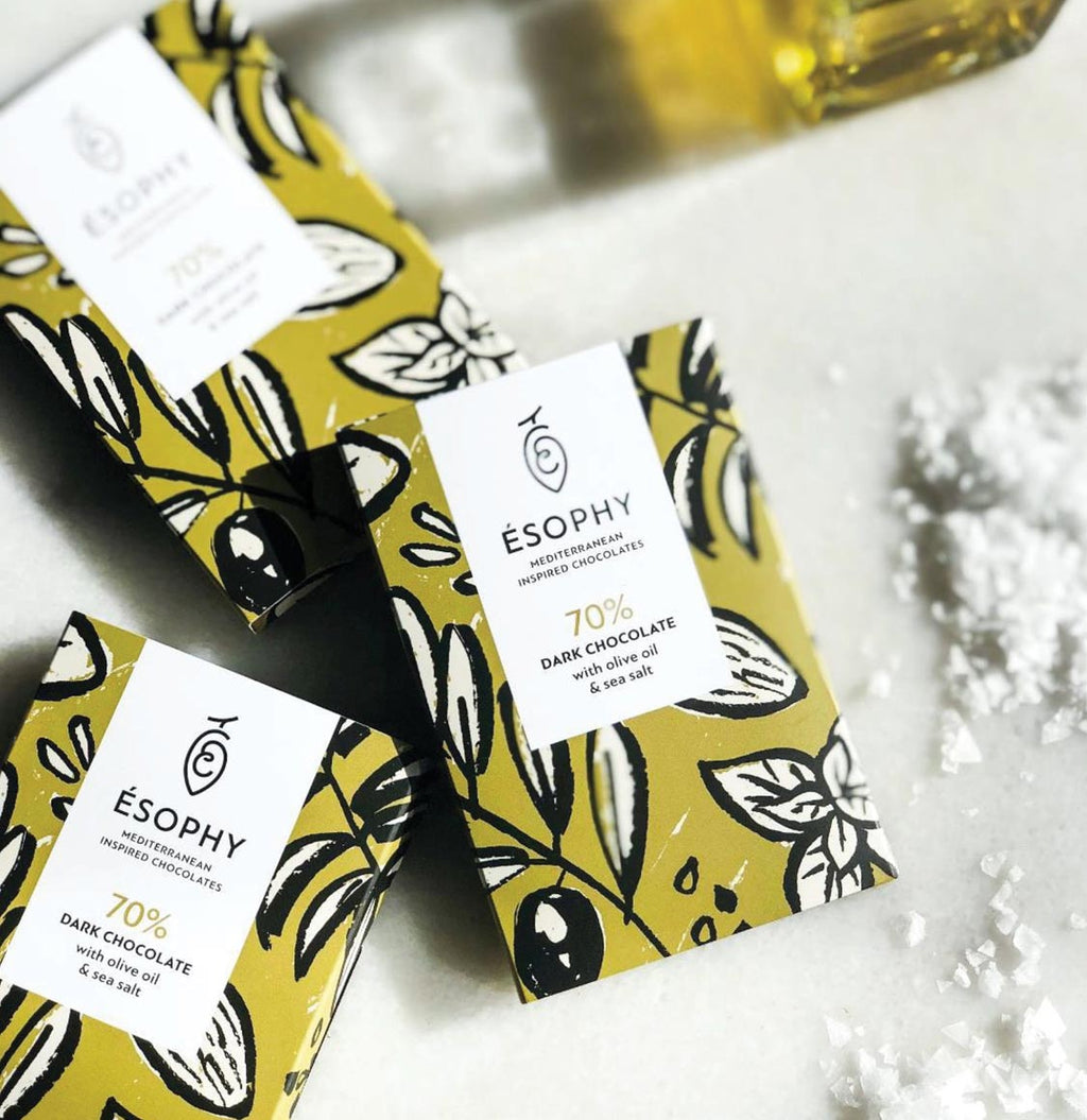 Esophy Olive Oil and Sea Salt Dark Chocolate - B