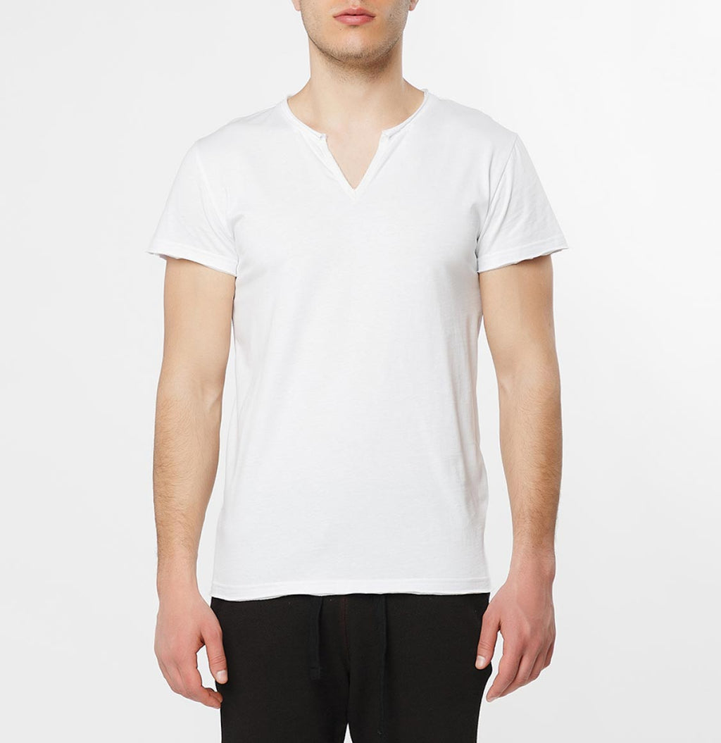 Fade Out Crew Neck T-Shirt White - B