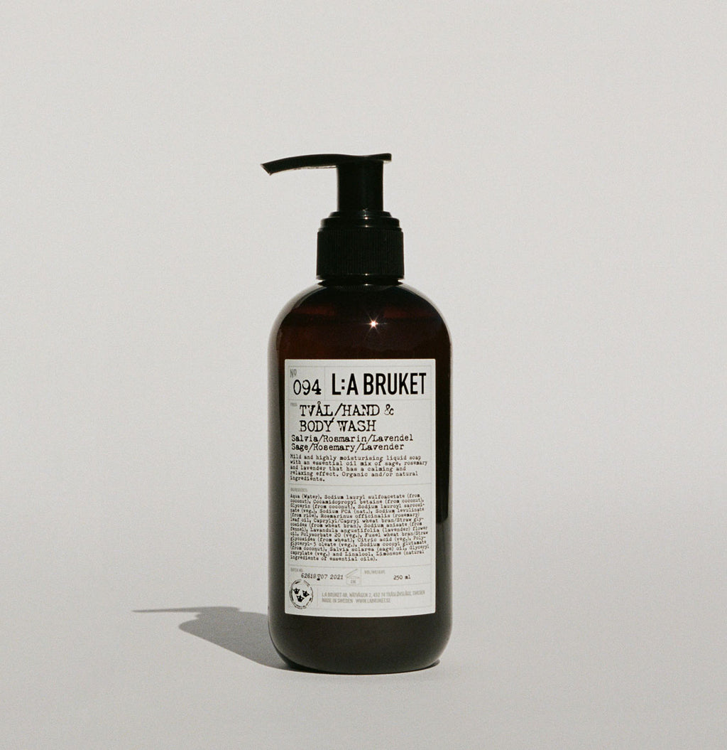 LA Bruket 094 Hand and Body Wash Sage Rosemary and Lavender