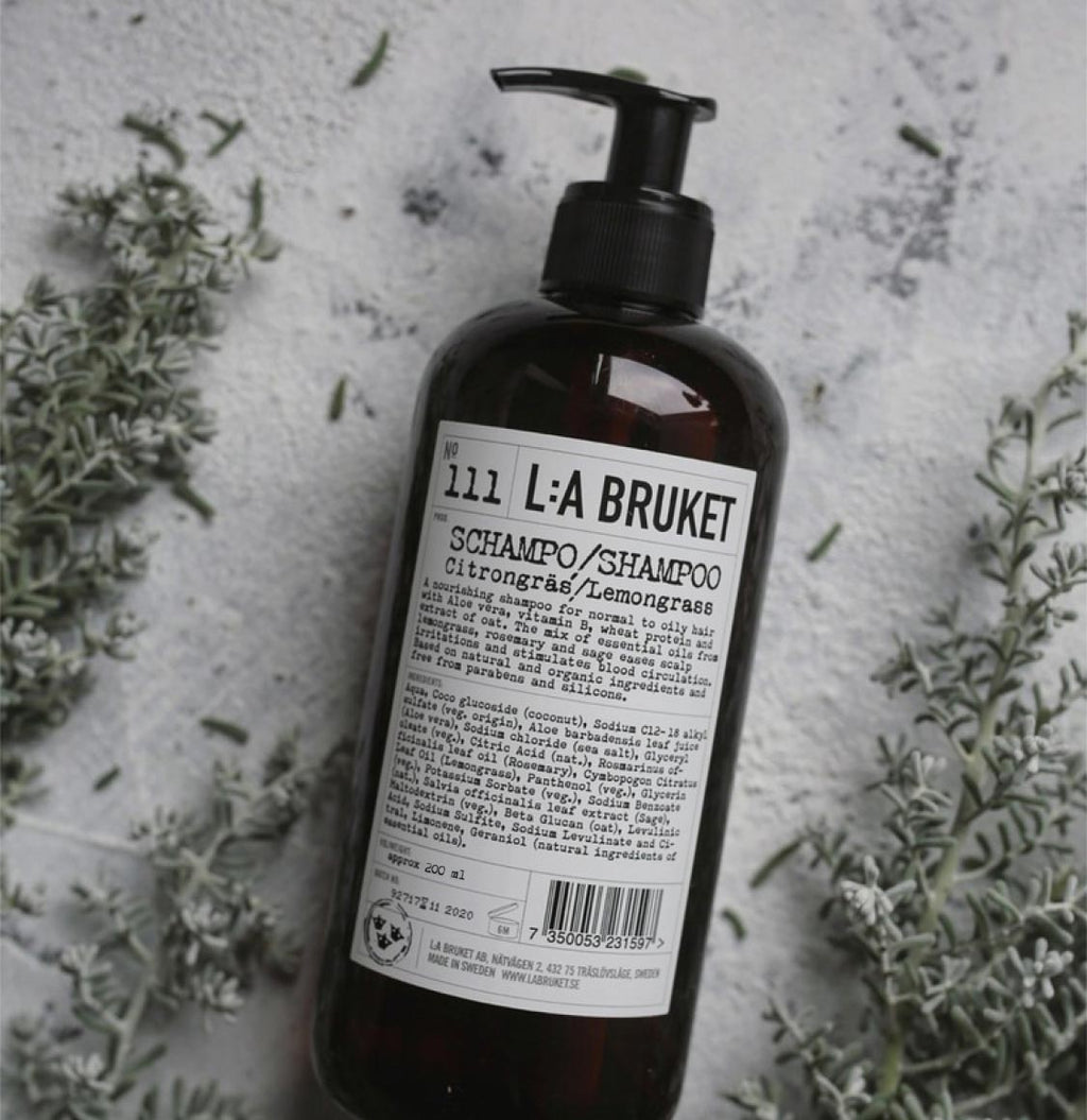 LA Bruket 111 Shampoo Lemongrass 250ml | The Project Garments - B