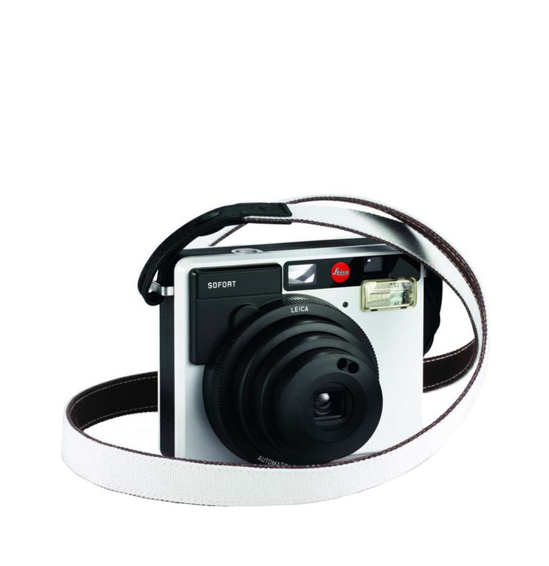 Leica Sofort Strap White/Black 19514 | The Project Garments B