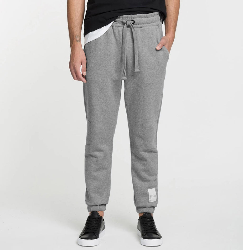 Logomania Regular Fit Cotton Sweatpants Melange Grey Model A
