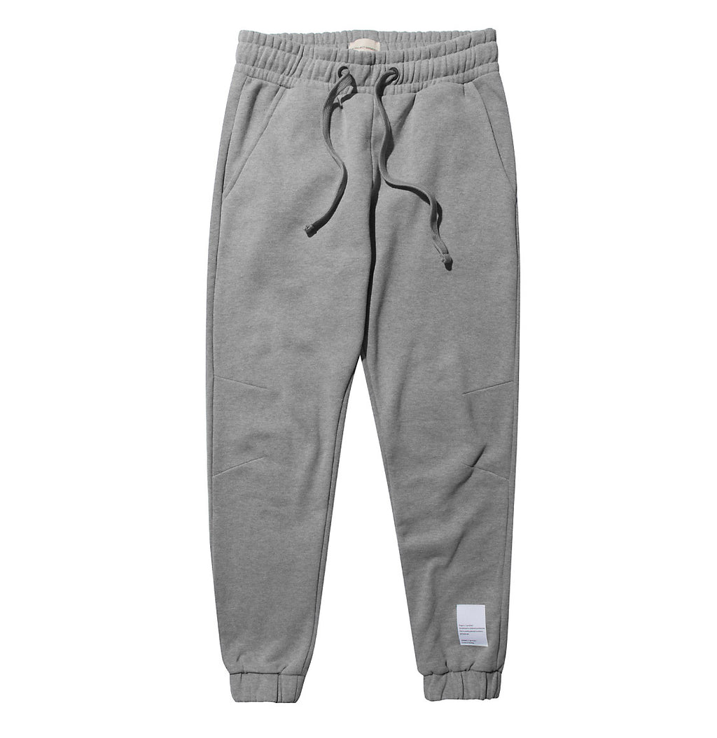 Logomania Regular Fit Cotton Sweatpants Melange Grey