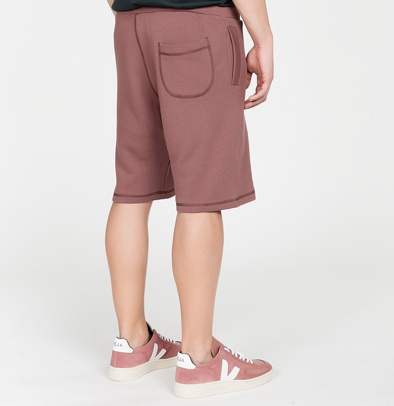 Loopback Cotton Jersey Relaxed Shorts Rosewood | The Project Garments - C