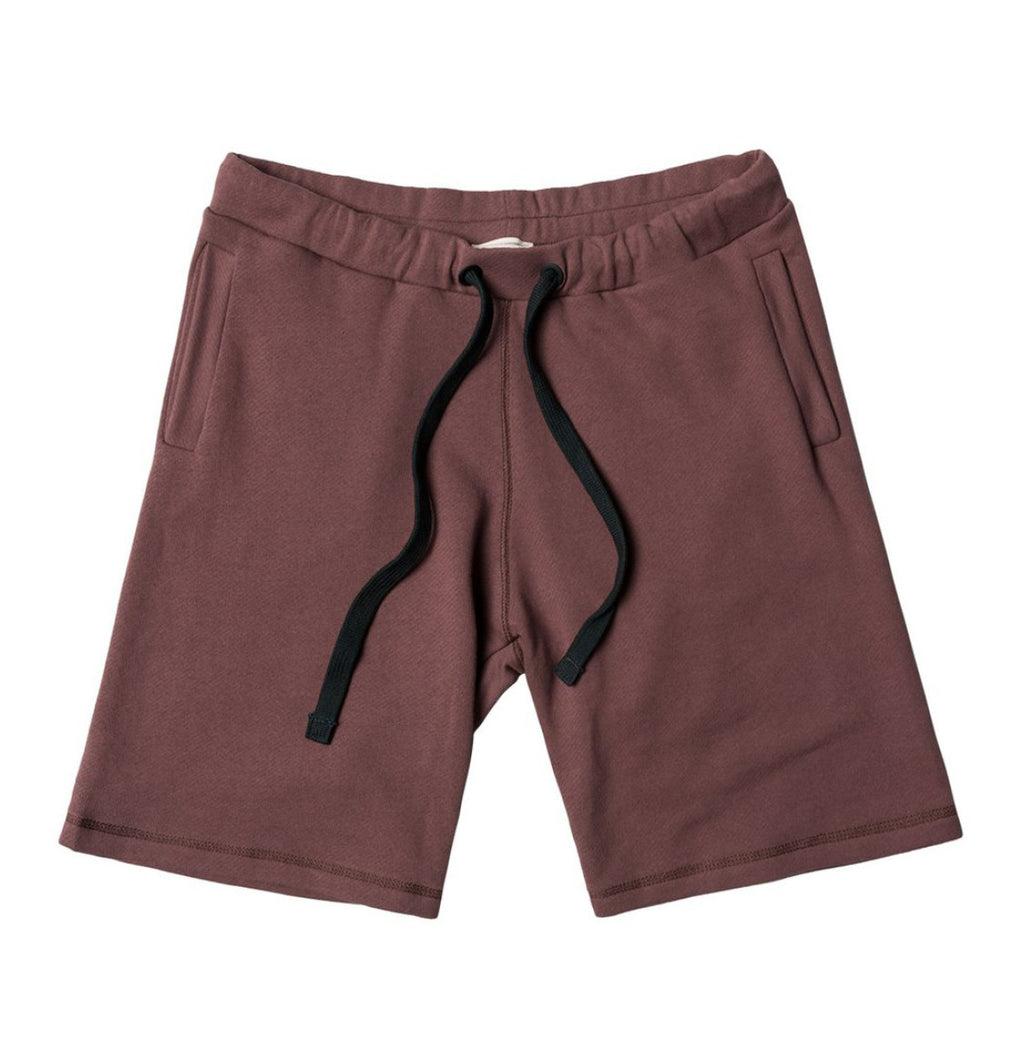Loopback Cotton Jersey Relaxed Shorts Rosewood | The Project Garments - Product