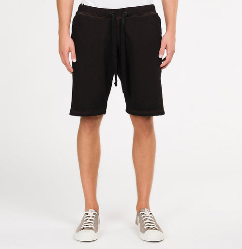 Loopback Oil Wash Cotton Jersey Relaxed Shorts Rosewood | The Project Garments - A