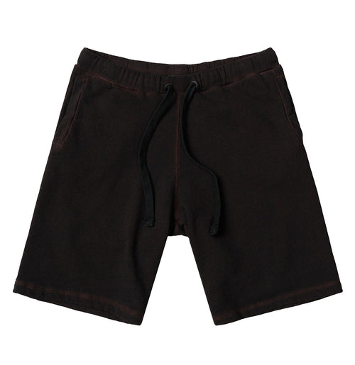 Loopback Oil Wash Cotton Jersey Relaxed Shorts Rosewood | The Project Garments - Product