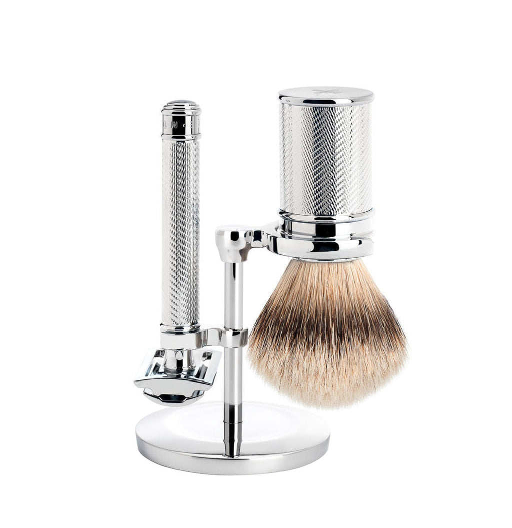 Muhle Safety Razor And Silvertip Badger Shaving Brush Gift Set