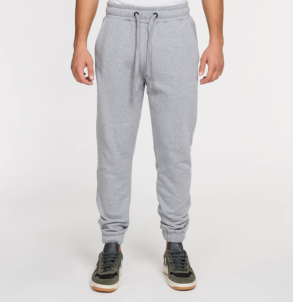 Regular Fit Cotton Sweatpants Melange Grey | The Project Garments - A