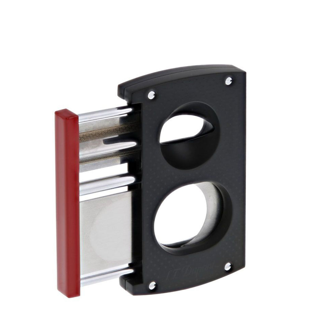 S.T. Dupont Double Blade Cigar Cutter Black And Red