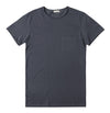 Double Crew Neck Organic Cotton T-Shirt Charcoal Grey
