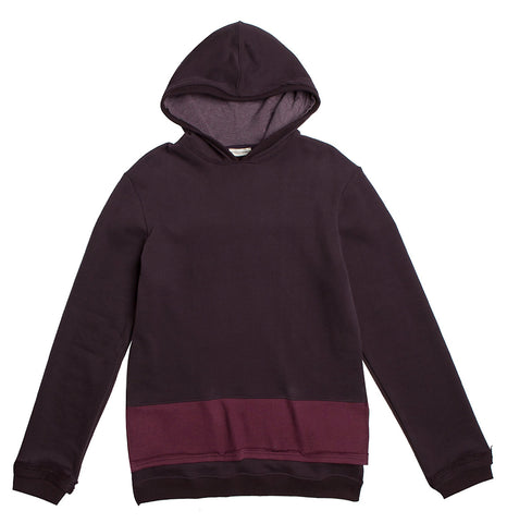 Organic Cotton Zip Up Hoodie Burgundy