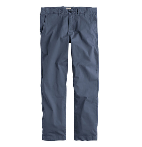 Regular Fit Cotton Blend Garment Washed Chino Pants Meteor Blue | The Project Garments - A