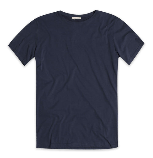 Crew Neck Supima Cotton T-shirt Navy Blue The Project Garments