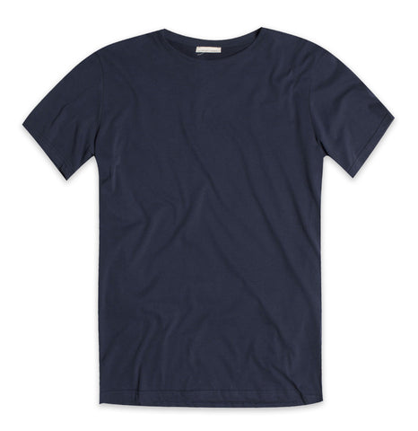 Crew Neck Modal-Blend Pocket T-shirt Midnight Blue