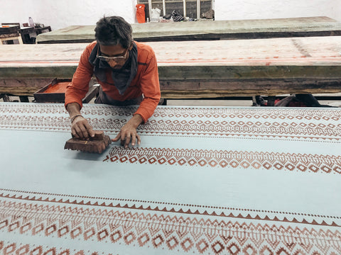 Hand Block Printing Process From Mila Designs