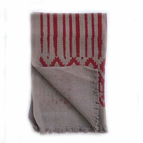 From Mila Phoenix Hand Towel Hand Block Printed Bathroom Ktichen Towel Exfoliating Texture Holiday Christmas Gift for Him and Her
