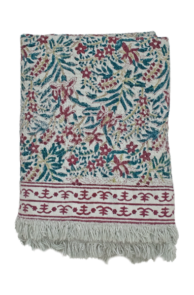 Gabriela Block Print Bath Towel