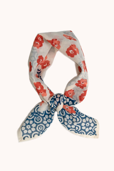 Ischia Block Print Cotton Bandana