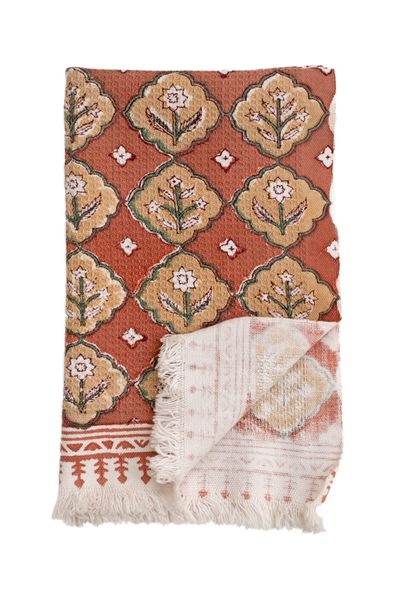 Isla block print hand towels (set of 2)