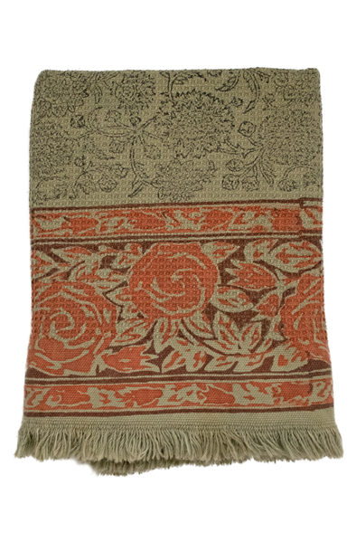 Reina Block Print Bath Towel