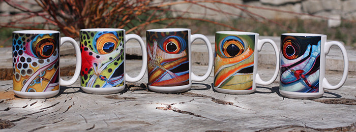 Derek Deyoung Fish Face Mugs