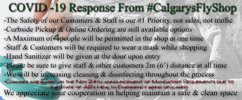 Calgary's Fly Shop COVID 19 Nov 24th Update & AB declaring state of health emergency