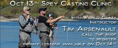 Calgarys Fly Shop Hosts Tim Arsenault for our Fall Spey Casting Clinic