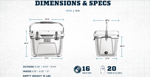 Yeti Roadie 20 Dimensions and Capacity