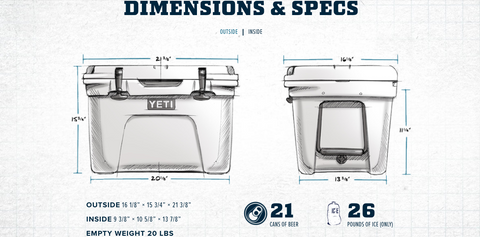 Yeti Tundra 35 Dimensions and Capacity