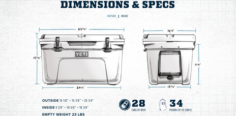 Yeti Tundra 45 Capacity and Dimensions