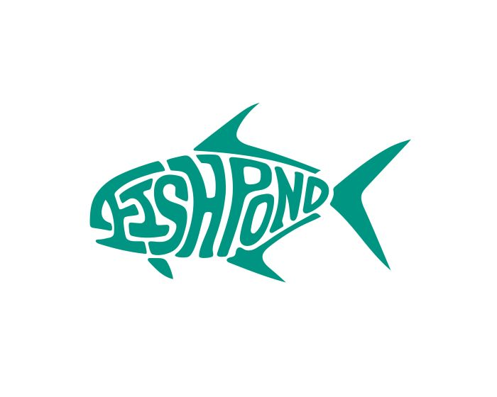 Fishpond Sticker - Permit Die Cut 6""