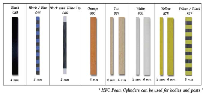 Bodies: MFC Foam Cylinders