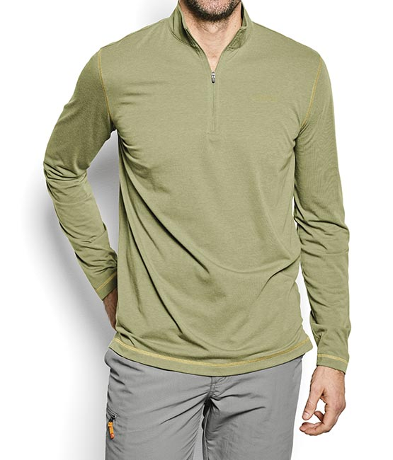 Orvis Men's Drirelease Long-Sleeved Zip Neck Casting Shirt