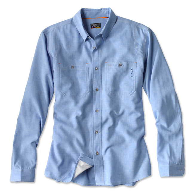 Orvis Men's Outsmart Tech Chambray Work Shirt