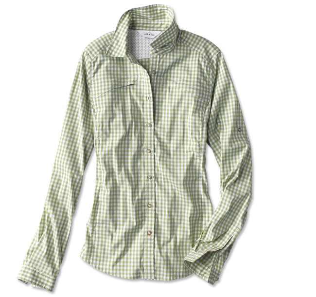 Orvis Woman's River Tech Guide Gingham Shirt