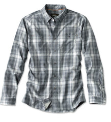 Orvis Men's Tech Chambray Plaid Work Shirt
