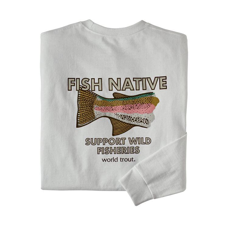 Patagonia Men's Long-Sleeved Native World Trout Responsibili-Tee