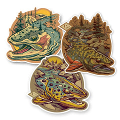 LRS: Sticker - Trout Water Decal Pack