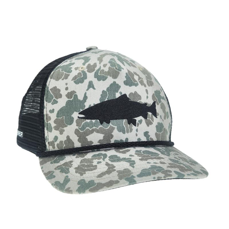 Rep Your Water Camo Trout Retro Hat