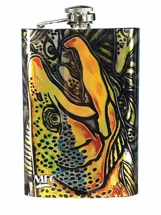 MFC Stainless steel hip flask Estrada Brown Trout Graffiti