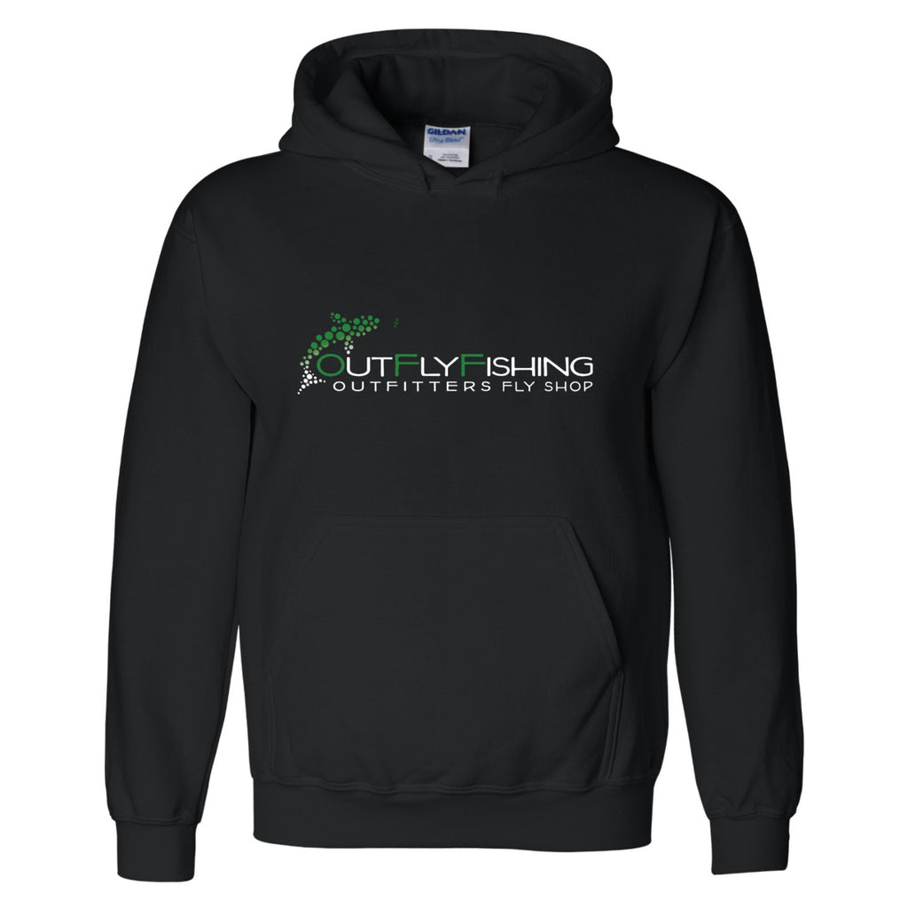 Out Fly Fishing Outfitters Black Pullover Hoody