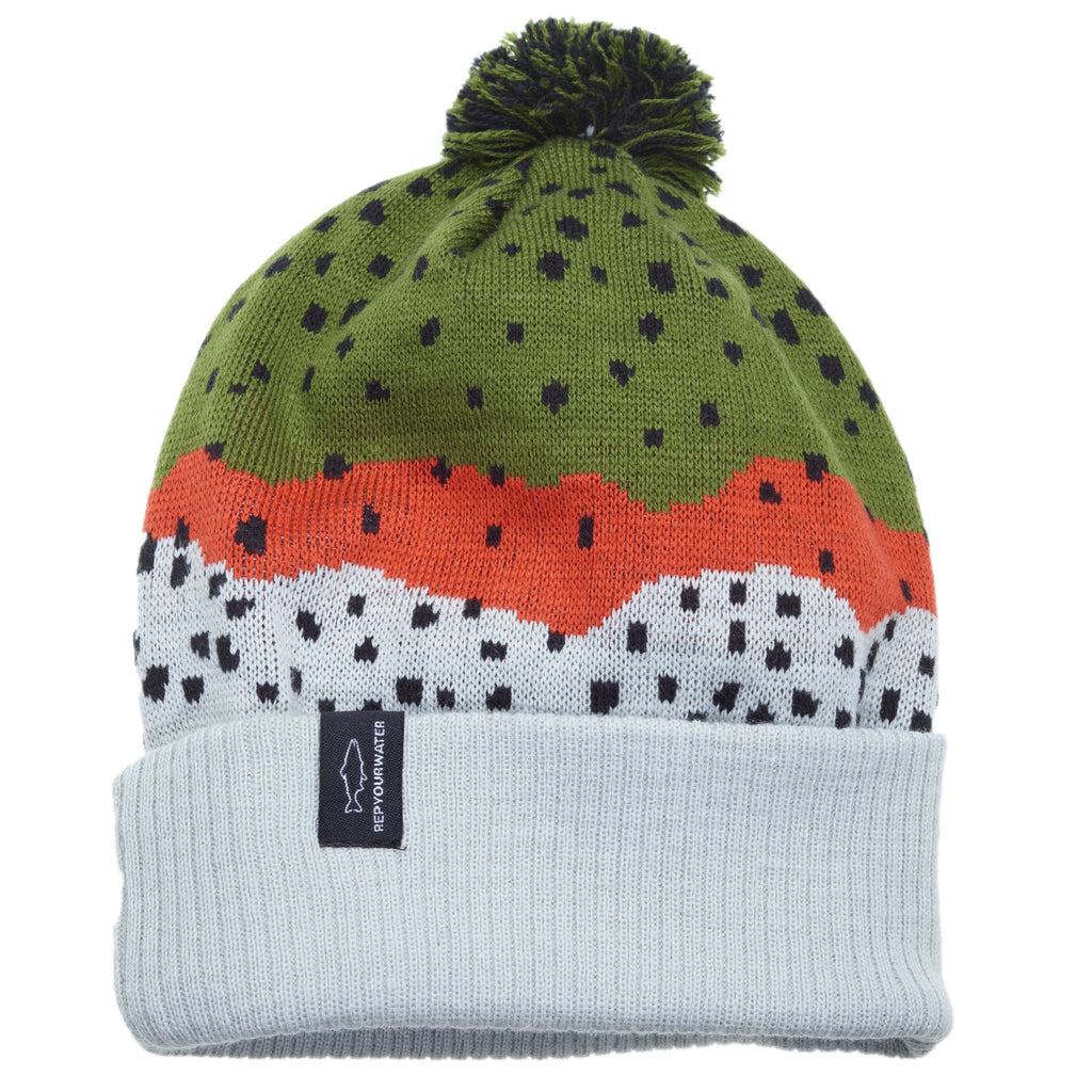 Rep Your Water Hat:  Knit Hats with Pompom (all colors)