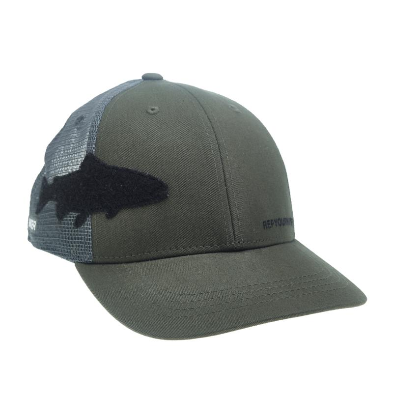 Rep Your Water Hat: Trout Fly Patch Hat